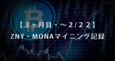 3ヶ月目BitZeny・MonaCoinマイニングサムネ