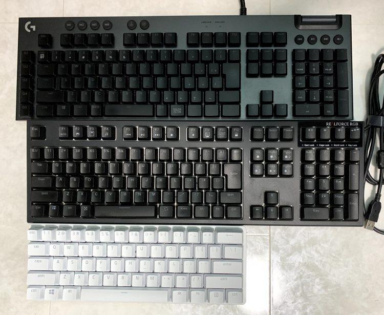 キーボードサイズ感比較